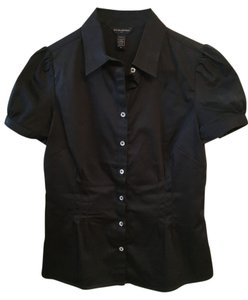 Banana Republic Button Up Button Down Shirt Black