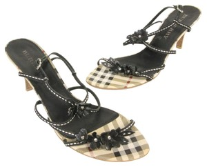 Burberry Nova Leather Lambskin Heels Black Pumps
