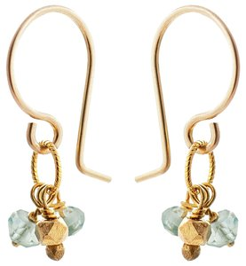 Catherine Weitzman Catherine Weitzman Bubble Rondelle Cluster Earrings - Aquamarine