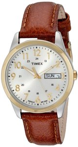 Timex Timex T2N105 Men's Two Tone Analog Watch With Beige Dial