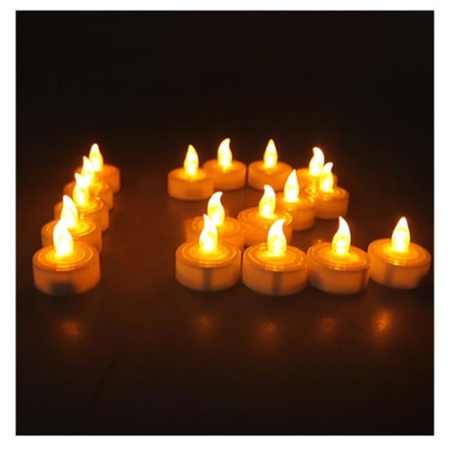 Item - Warm White/Amber 100 Led Tea Light Battery Operated Flickering Votive/Candle