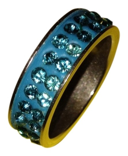Other Blue Crystals Titanium Ring