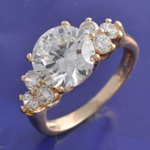 Rose Gold Bogo Free White Topaz Free Shipping Engagement Ring