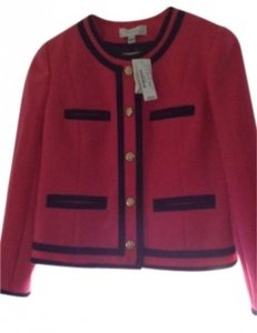J.Crew Bright pink and black Jacket