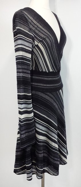 M Missoni short dress Grey/Black Wool Viscose on Tradesy