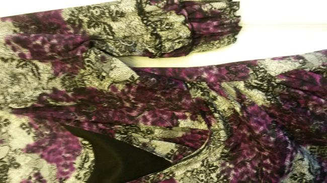 Style & Co Casual Top Purple, black and white print with black tank
