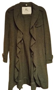 Burberry London Summer Coat Wool Cashmire Gray Jacket