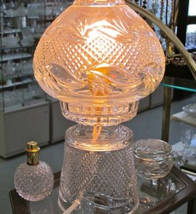 24% Lead Crystal Hand Cut Lamp