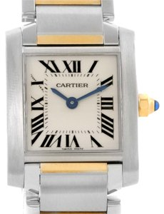 Cartier Cartier Tank Francaise Womens Steel Yellow Gold Quartz Watch W51007Q4