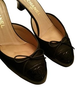 Chanel Heels Black Mules