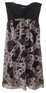 Diane von Furstenberg Strapless Silk Chain Dress