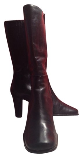 Ellen Tracy Leather Mid-calf black Boots