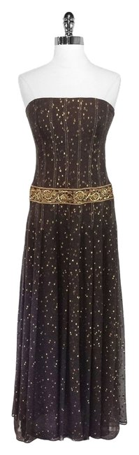 Kay Unger Silk Metallic Dress