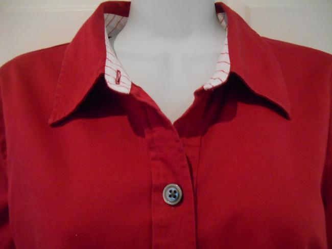 Old Navy Dark Magenta Xl L Large 14 12 Cotton Cotton Spandex Spandex Perfect Fit Stretch Work Office Casual Shirt Shirt Top Pinky Red