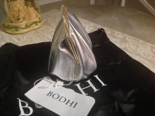 Bodhi Metallic Leather Coin Silver Clutch