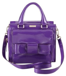 Kate Spade Leather Satchel in Purple