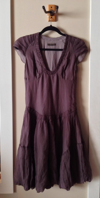 Burberry short dress Plum on Tradesy