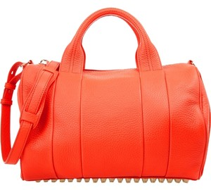 Alexander Wang Studded Leather Tote in Coral