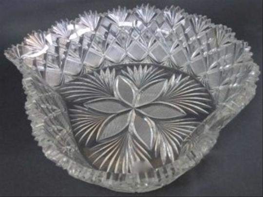 Cut Glass Heart Shape Bowl By Straus Abp