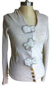 Anthropologie Hood Applique Cashmere Wool Sweater