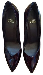 Stuart Weitzman Brown Patent Pumps
