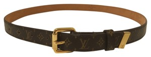 Louis Vuitton Louis Vuitton Monogram Canvas Skiny Belt