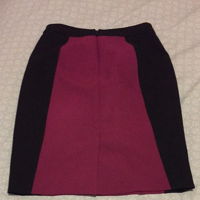 Halogen Pencil Work Pencil Colorblock Nordstroms Lined Office Wear To Work Skirt Black and Purple