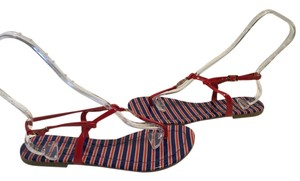 Tommy Hilfiger Thong T Strap Red & Blue Sandals