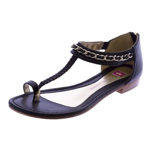 Elaine Turner Womens Black Sandals