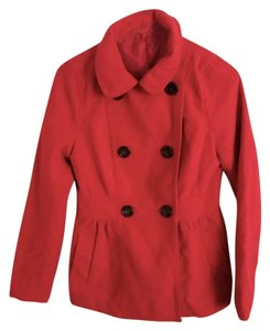 Divided by H&M Empire Waist Gathered Button Closure Winter Fall Comfortable Casual Classic Chic Pea Coat