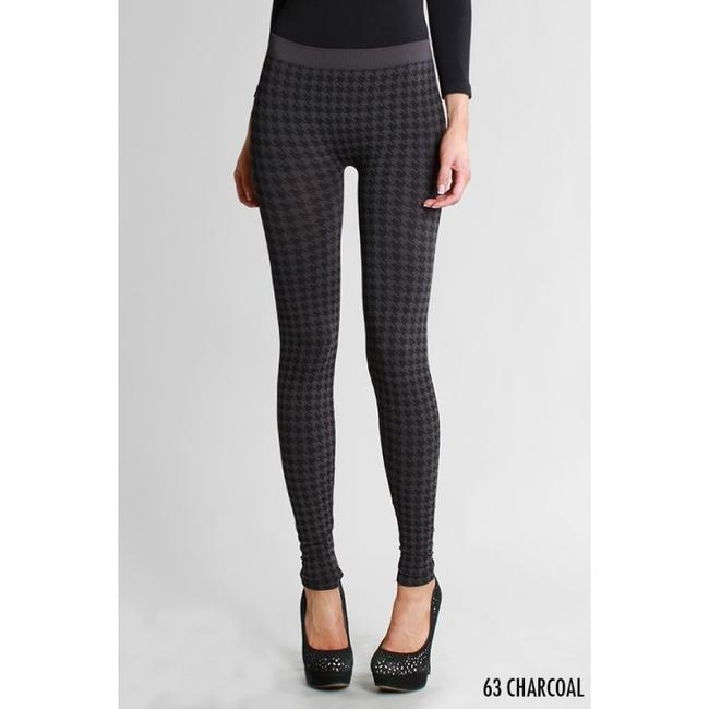 Nikibiki Houndstooth Collectino Red White Taupe Charcoal Gray Winter Fall Multi Leggings