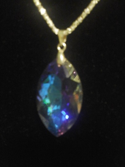 Other NEW Crystal Teardrop Pendant with Sterling Silver Chain