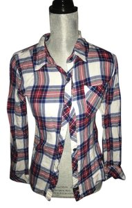 Rails Button Down Shirt Red/ white/blue