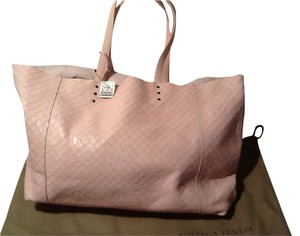Bottega Veneta Light Embossed Leather Tote Shoulder Bag