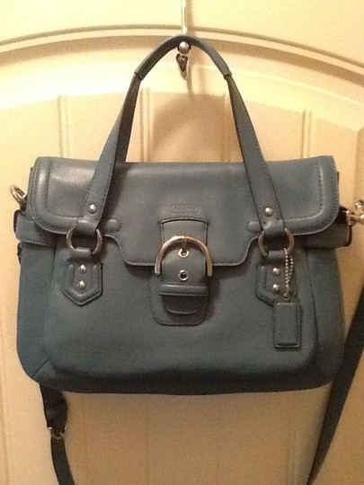 Coach Satchel in Mineral/Teal