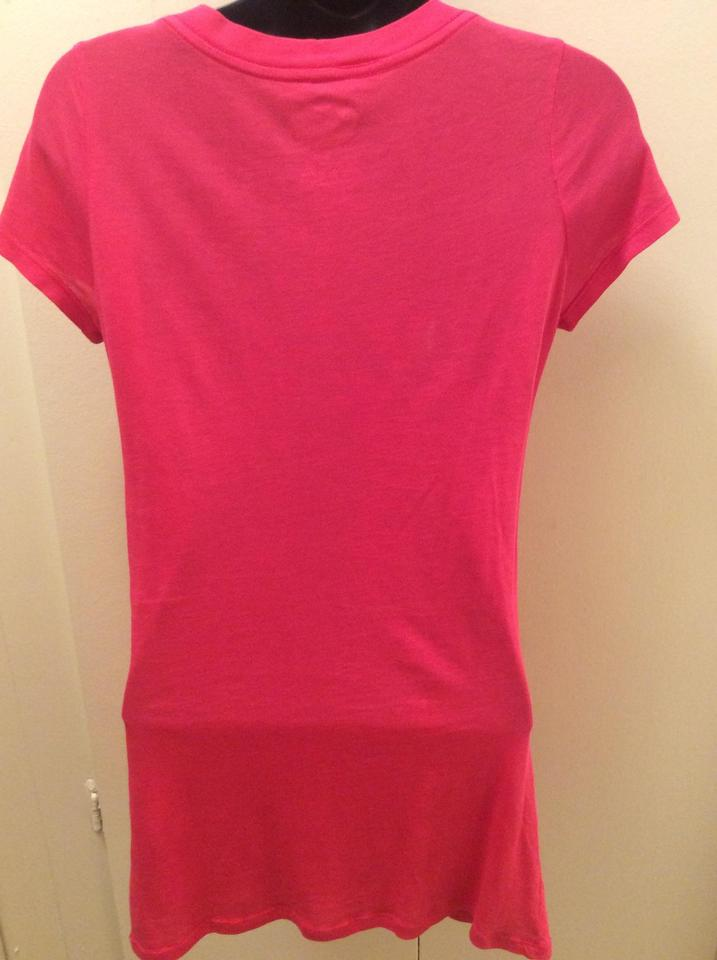 f1cec5e0cf60 Juicy Couture Hot Pink with Gold Letters Tee Shirt Size 6 (S) - Tradesy