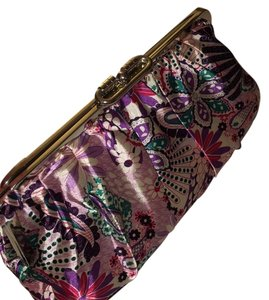 Merona Purple White Turquoise Maroon Clutch