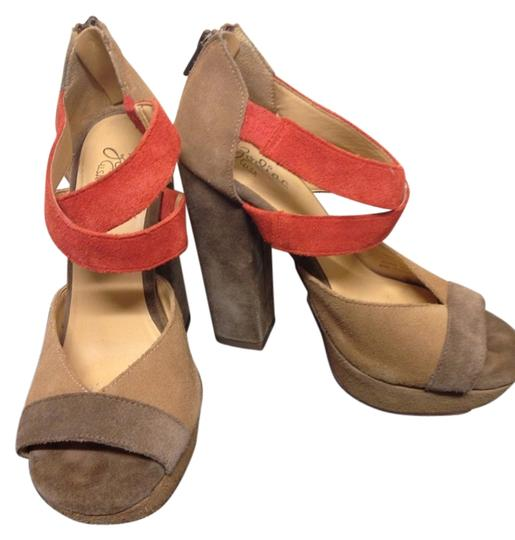 Zodiac Brown, Light Caramel , Orange Platforms