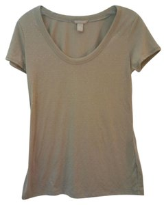 Banana Republic Sleeve T Shirt Beige