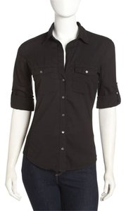 James Perse James James Shirt James Office Button Down Shirt Black