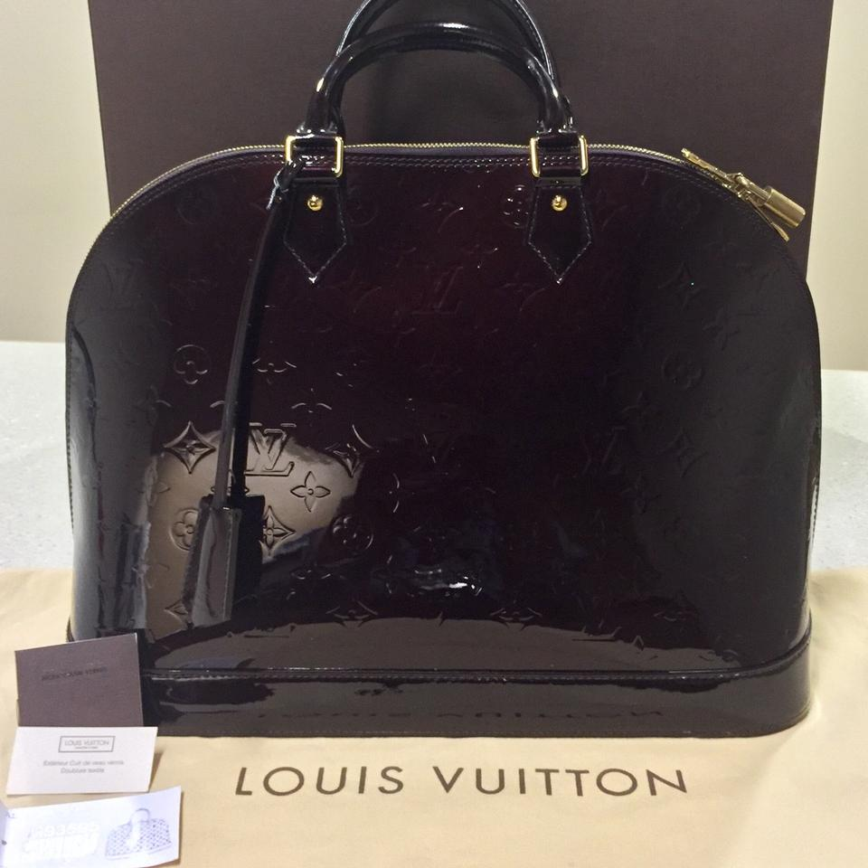 c8f48579ae8 Louis Vuitton Alma Gm M93595 Amaranth Monogram Vernis Satchel