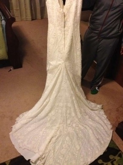 Jasmine Couture Bridal Ivory Feminine Wedding Dress Size 10 (M)