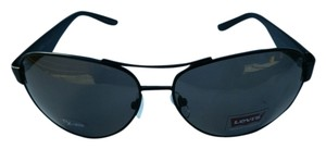 Levi's Levi's Rxable Sunglass LS183 3 Black Aviator, Solid Smoke Lens