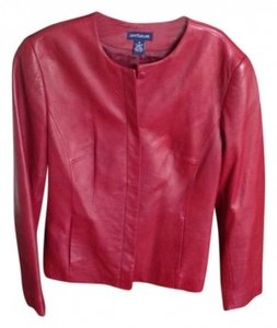Ann Taylor Red Leather Jacket