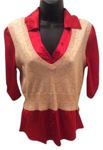 bebe Top Red and beige