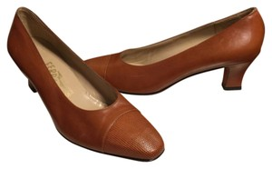 Salvatore Ferragamo Chocolate Brown Pumps