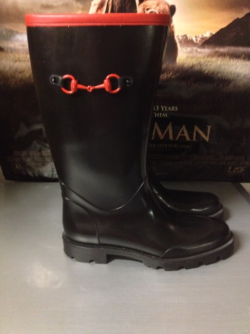 Item - Black and Red Rain Boots/Booties Size US 8.5 Regular (M, B)
