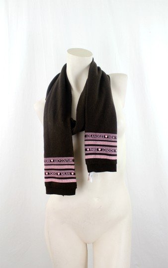 Juicy Paris Juicy Paris London Brown Jersey One Size Scarf
