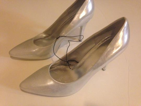 H&M Silver Metallic Hm Sexy Pointy Formal