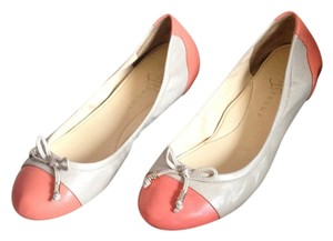 Ivanka Trump Leather Bows Perfect Preppy pink, coral Flats